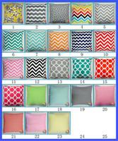 Wholesale 23 Design cm Fashion home furnishing stripe Printed Cushion new children stripe flower pillowcase B001
