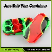 Cheap electronic cigarette  Wax Silicone Container Best Set Series Red Jars Dab Wax Container