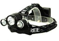 Cheap Head lamp Light LED Headlight 3T6 5000 lumens headlamp +2*18650 4000 maH battery +Charger + Car chargr 3x CREE XM-L XML T6 LED
