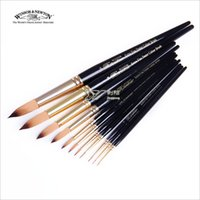 acrylic round rod - Winsor amp Newton short black nylon round rod gouache watercolor brush pen brush acrylic applicable single sale
