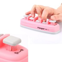 beginner pianos - Professional assistant tool Piano Electronic keyboard Hand Finger Exerciser Tension Training Trainer Pink Blue