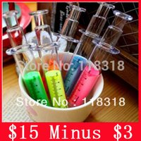 Wholesale off per Colors Syringe Colored Pens Water Chalk Highlighter Markers Pen