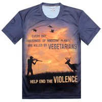 animal violence - quot HELP END THE VIOLENCE quot Printed Creative D T Shirt To protect animals Sport Slim T Shirt
