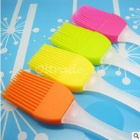 Wholesale 100pcs CCA3053 High Quality Hot Silicone Basting Cooking Pastry Brush Kitchen Heat Resistance Silicone BBQ Brush Portable Kitchen Brushes