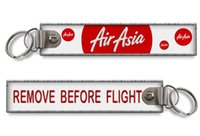asia aviation - Pilot Airlines Air Asia Remove Before Flight Embroidery Key Chain Aviation Embroidered Keychains x31mm