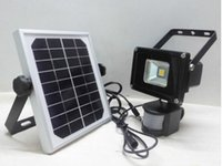 Wholesale W Solar pir motion sensor LED flood light Super bright security light pelucia lights reflector led outdoor light