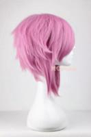 african american art - Sword Art Online Lisbet cm Synthetic Short Women Cosplay Short Purple Wig wig human wigs african american hair