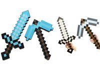 Wholesale Minecraft sword Figure toy Minecraft Foam Sword Piackaxe AXE Hoe Shovel Sword Pickaxe Free EMS MOQ