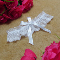 leg garter - Lace Bridal Garters White Ivory Cheap Sexy with Crystal Beads Wedding Leg Garters Bridal Accessories