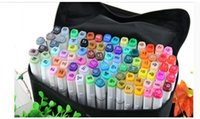 Wholesale color manga Sketch Marker pen Art Marker Pen Highlighter Alcohol Oily Mark Pen Art Supplies paint brush