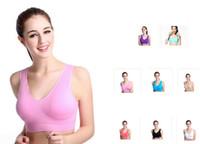 Wholesale Newest colors sports vest seamless bra yoga bra running bra body shape push up vest