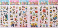 Wholesale 2015 Children Toys Variety Cartoon Stickers Despicable me Ben10 Spiderman Stickers Popular Kids Items