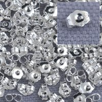 Wholesale Bulk Genuine Fine Sterling Silver Jewelry Findings Back Stopper For Stud Pin Jewelry Settings Stamped LOGO
