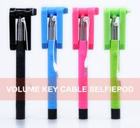 Wholesale MOQ Colorful in Audio Wired Cable Extendable Handheld Stick Selfie Z06 Collapsible Holder Original KJSTAR for phones