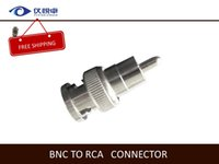 Wholesale BNC Connector BNC male to RCA male Copper Pin Video Cable Alloy Connect for Security CCTV Camera System W48