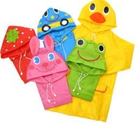 Wholesale 2015 new Linda Funny Rain Coat Kids Children Raincoat Rainwear Rainsuit Kids Waterproof Animal Raincoat