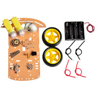 Wholesale New Motor Smart Robot Car Chassis Kit Speed Encoder Battery Box WD For Arduino