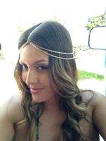 metal ornaments - 2015 Cheap off Summer Metal Alloy Bohemian Boho Beach Hair Jewelry Forehead Women Head Chain Hair Ornaments Wedding Accessories