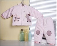 Cheap 6sets lot wholesale New winter clothing for newborn baby warm suit