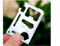 Wholesale 100pcs A quality Large Size functions in Multifunction Tool Pocket saber Card Outdoor Camping Survival Knif