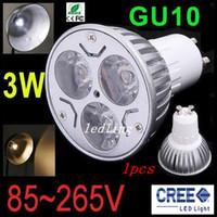 Wholesale LED x1W GU10 MR16 E27 GU5 LED Spot Light Bulb Lamp GU Spotlight Downlight Ceiling Home Room Lighting CE ROHS