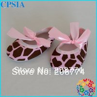 Gros-2015 New Style Mode Leopard gros Imprimer Chaussures Sneakers rose bon marché Toddler bébé avec 24pairs Ruban Livraison gratuite