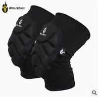Wholesale Two Pieces Kneepad Skiing Goalkeeper Soccer Football Volleyball Extreme Sports knee pads Protect Cycling Knee Protector LJJC1186 pairs