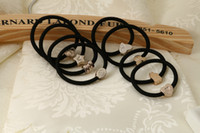 Wholesale High quality Elastic hair bands color matching thick hair rope string for binding a plait ponytail holder