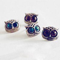 Wholesale New Vintage Style Jewelry Retro Fashion Lady Big Eyes Owl Stud Earring Earrings Pin Nail Women s Earrings Fashion