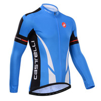 best outfits men - Best popular New blue cycling sportswear cycling Long Sleeve jersey outdoor rope ciclismo outfit Autumn Breathable Racing MTB clothing