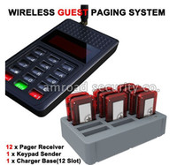 Wholesale Y P801 Wireless Guest Paging System Restaurant Calling System w Pager Receiver Bar Pager Slef service Restaurant Queue system
