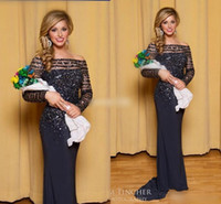beauty drops yellows - 2016 Miss Hawaii Pageant Dresses With Long Sleeve Bling Sequin Off Shoulder Beauty Queen Long Evening Gowns Formal Mother of the Bride Dress