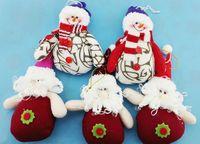 Wholesale 6pcs Christmas bell deer Santa Claus Cartoon Charm Christmas Bell Christmas tree decoration supplies snowman gifts s109