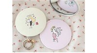 Wholesale Pocket mirror for Women fashion convenient cartoon lovely Compact mirror cosmetic mirrors Practical chic mirrors DHL