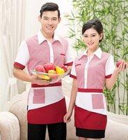 Wholesale chinese restaurant uniforms chinese restaurant supply chinese restaurant waiter uniform short sleeve hotel uniform workwear