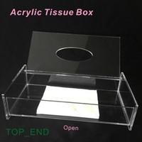 acrylic tissue box - Crystal Clear Acrylic Tissue Box Tableware Decoration Luxury Tissue Box for Hotel Restaurant Bathroom Bar