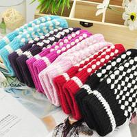 Wholesale Fingerless Gloves Half Fingerless Warm Adult Knitted Gloves Neutral Both Man And Woman Unisex Woolen Gloves