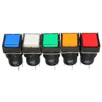 Wholesale New Arrvial Colors Angel Eye Metal LED Illuminated Momentary mm Automatic Reset Button Switch Car Dash V