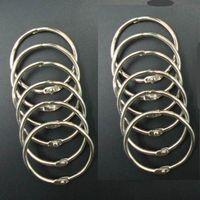 Acheter Classeurs à anneaux-Les anneaux de reliure de livre de livre de 40mm de livre d'expédition de DHL attachent le porte-clés en vrac d'album DIY de Scrapbook d'anneau de feuille