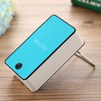 Wholesale Rechargeable Mini USB Cooler Portable Hand held Air conditioning mini cooler fan built in mAh Li ion battery
