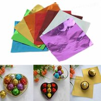 Wholesale Hot Square Candy Paper Sweets Chocolate lolly Foil Wrappers Confectionary