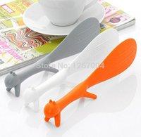 Wholesale 30pcs Novelty Squirrel Style Vertical Non Stick Rice Spoon Dinnerware Ladle