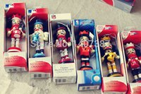 Wholesale 4PCS HOME DECORATION WOODEN NUTCRACKER CHRISTMAS GIFT FOR KIDS