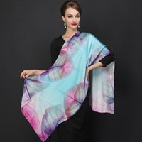 Wholesale Famous Brand Fashion Silk Neck Scarf with Top Quality Women Beautiful Scarves Long Floral Print Shawls Multiple Colors SH011