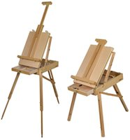 artist wooden easel - French Easel Beech Wooden Sketch Box Tripod Folding Art Artist Painter Pallet