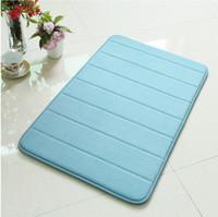 Wholesale FindFine Hot Sale Memory Foam Water absorbing Skidproof Soft Stripe Bath Tub Floor Rugs Mats Carpets