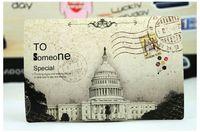 antique postcards - Restore ancient ways personality s nostalgic postcards USA UK France famous building etc landscape creative CARDS Greeting card