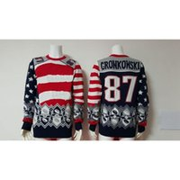 Wholesale New Gronkowski Football Sweater Pullover Hooded Sweatshirt Long Sleeve Pullover Sweater Round Collar Warm Sweater Fashion Warm Sweaters