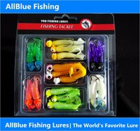 bass fishing grubs - Fishing Lures g Multi Colors Sea Fishing Tackle Soft Bait Bass Jig Heads Hook Grub Worm