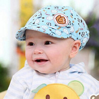 Wholesale 1 Summer Baby Boy Girl Kid Toddler Infant Hat Casquette Peaked Baseball Beret Cotton Cap Colors